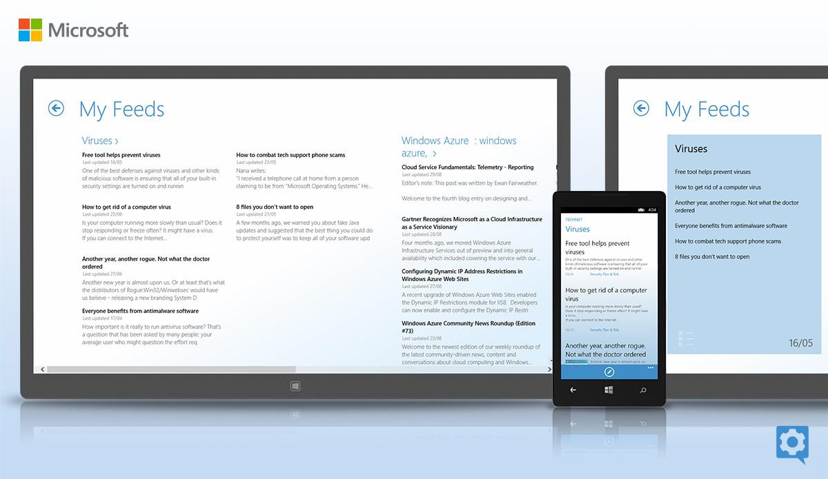 art directions portfolio microsoft tech companion app